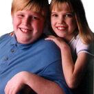Samantha and her brother Chris